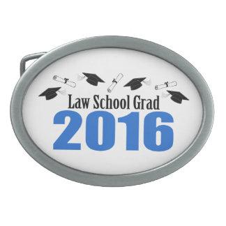 Law School Grad Class Of 2016 Caps (Blue) Oval Belt Buckle