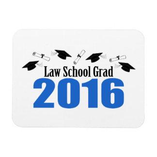 Law School Grad Class Of 2016 Caps (Blue) Rectangular Photo Magnet