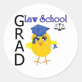 Law School Grad Classic Round Sticker