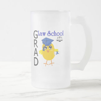 Law School Grad Frosted Glass Beer Mug