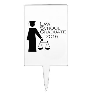 Law School Graduate 2016 Cake Topper