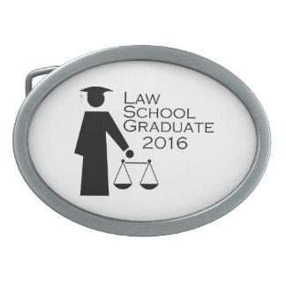 Law School Graduate 2016 Oval Belt Buckle
