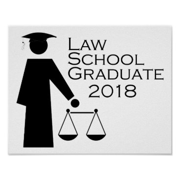 Lawyer Themed Law School Graduate 2018 Poster