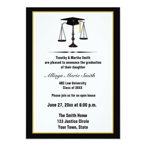 Law School Graduate Annoucement Card
