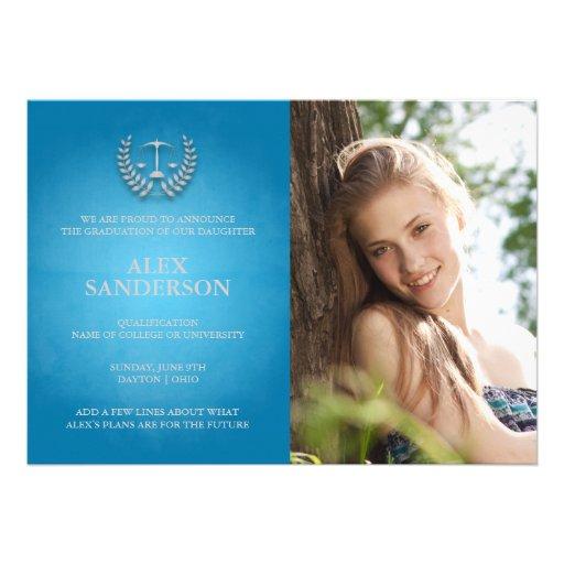 Law School Graduation Announcement Photo Card