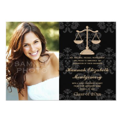 purple gold law firmlaw school graduation rsvp card zazzlecom - Law School Graduation Invitations