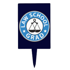 Law School Graduation Cake Topper