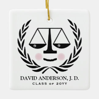 Law School Graduation Ceramic Ornament