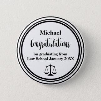 Law School Graduation Congratulations Button Pins
