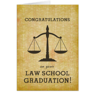Law School Graduation Custom Personalized Card