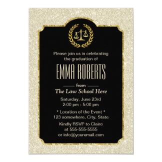 Law School Graduation Elegant Ivory Glitter Lawyer Card
