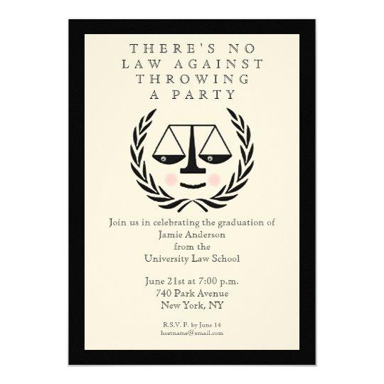 Law School Graduation Invitations Zazzlecom