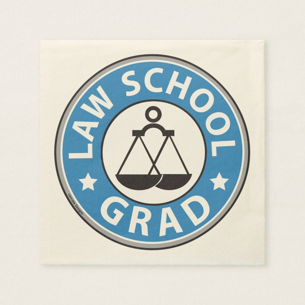 Law School Graduation Napkin