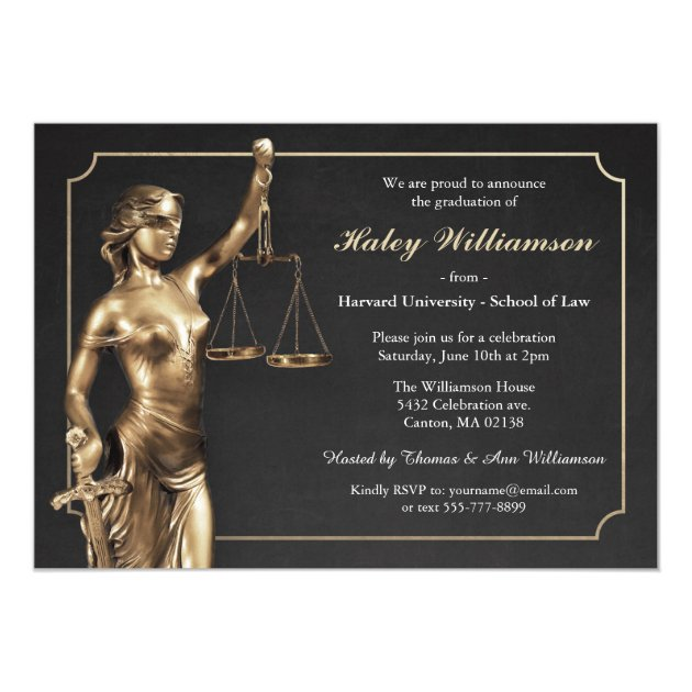 law school graduation party invitation - Law School Graduation Invitations