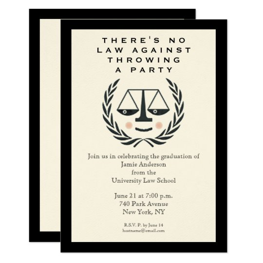 Law School Graduation Party Invitation Zazzle Com