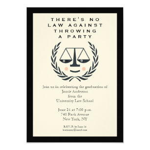 Law School Graduation Invitations Announcements Zazzle