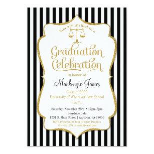 Law School Graduation Invitations Zazzle