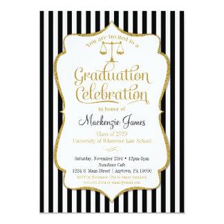 Law School Graduation Party Invitation Lawyer