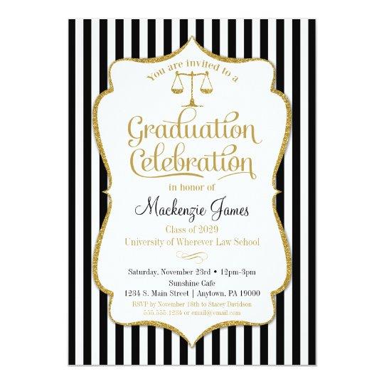 Law School Graduation Party Invitation Lawyer Zazzle Com