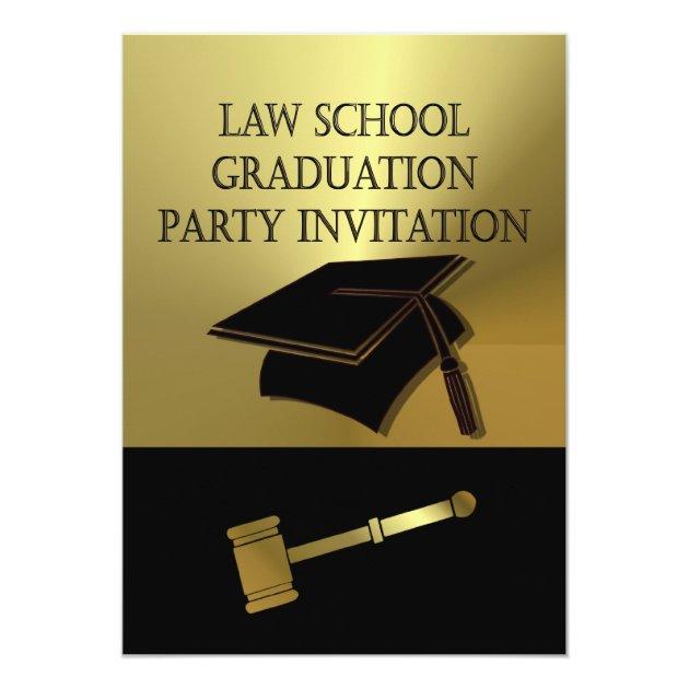 Law School Graduation Party Invitation Scales Book Zazzle