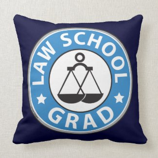 Law School Graduation Pillow