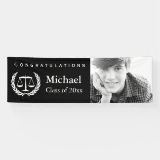 Law School Graduation Scales of Justice Banner