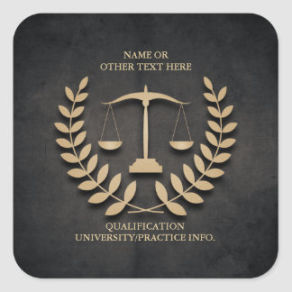 Law School | Justice Scales and Laurel Wreath Square Sticker