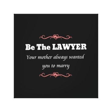 Law School Lawyer Female Graduate - Graduation Canvas Print