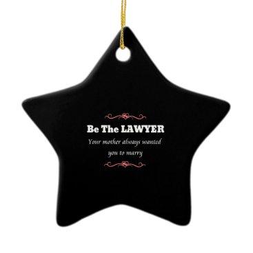 Law School Lawyer Female Graduate - Graduation Ceramic Ornament