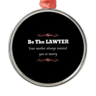 Law School Lawyer Female Graduate - Graduation Metal Ornament