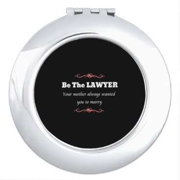 Law School Lawyer Graduate Student - Female Compact Mirror