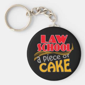 Law School - Piece of Cake Basic Round Button Keychain