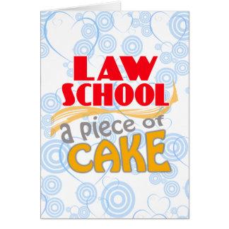 Law School - Piece of Cake Card