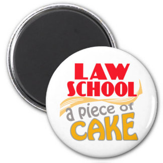 Law School - Piece of Cake Magnet