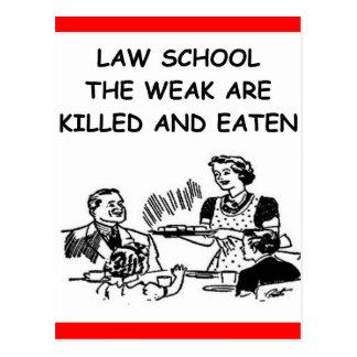 law school postcard
