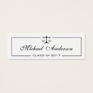 Law School Student Name Card Insert Card