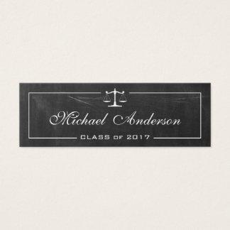 Law School Student Teacher Chalkboard Stylish Mini Business Card