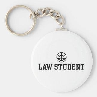 Law Student Basic Round Button Keychain