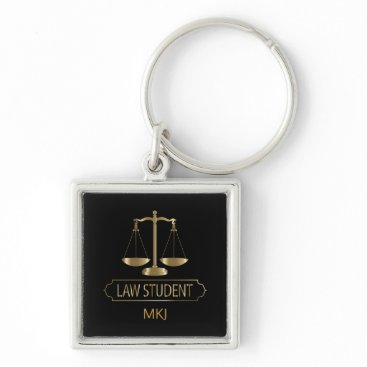 Law Student - Black and Gold Keychain