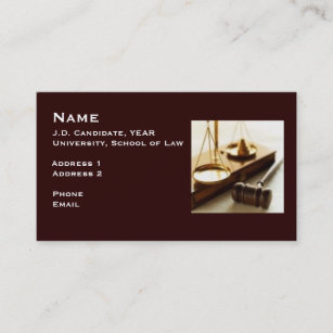 Law student business cards zazzle law student business card 1 colourmoves