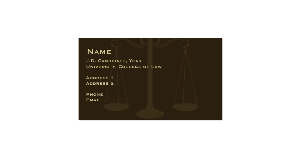 Law Student Business Card 2