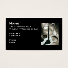 Law Student Business Card 3 at Zazzle