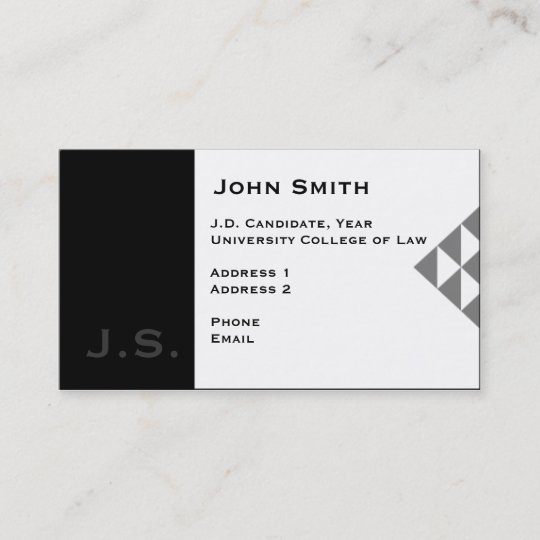 law student business card 3 - Student Business Card