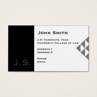 Law Student Business Cards & Templates | Zazzle