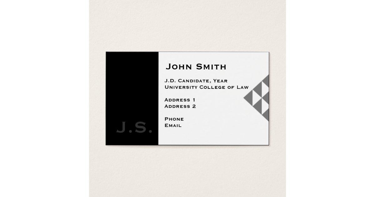Law Student Business Card 3 | Zazzle.com