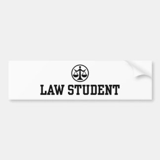 Law Student Car Bumper Sticker