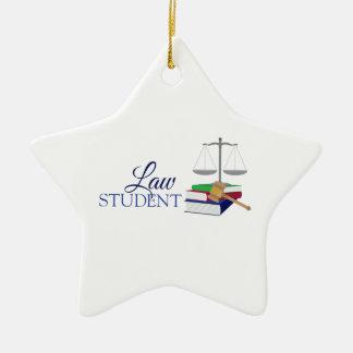 Law Student Ceramic Ornament