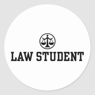Law Student Classic Round Sticker