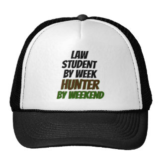Law Student Hunter Trucker Hats