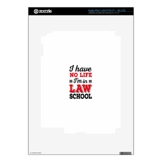 LAW STUDENT iPad 3 SKINS